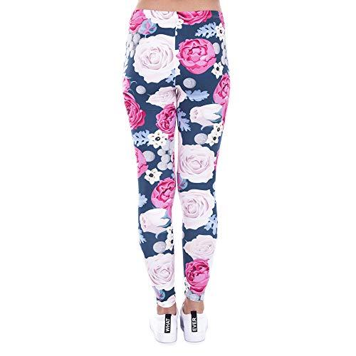 ad Lybtrouser stampati donna da leggings elasticità alta Pantaloni r66qAXnv