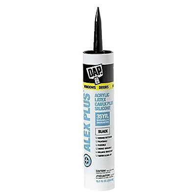 Dap 18126 10.1 Oz Black Alex Plus® Acrylic Latex Caulk Plus Silicone