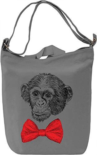 Chimp Borsa Giornaliera Canvas Canvas Day Bag| 100% Premium Cotton Canvas| DTG Printing|