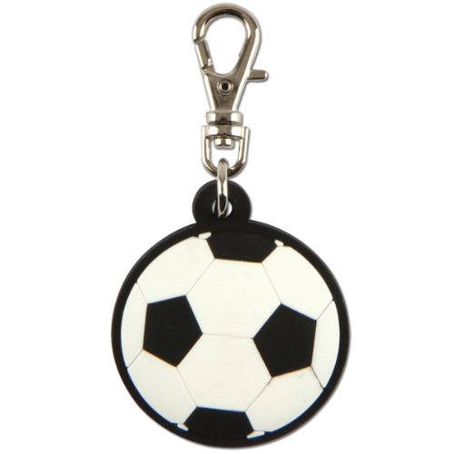 Stephen Joseph Soccer Ball Zipper Pull -