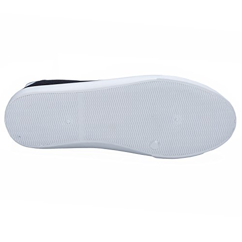 Diseñador De Henleys Zapatillas Kenyon Negro Casual Zapatillas Cordones Hombre Zapatillas Lona d4HYtw4qx