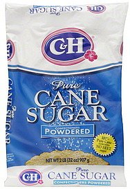 C&H, Pure Cane, Powdered Sugar, 32oz Bag (Pack of 2)