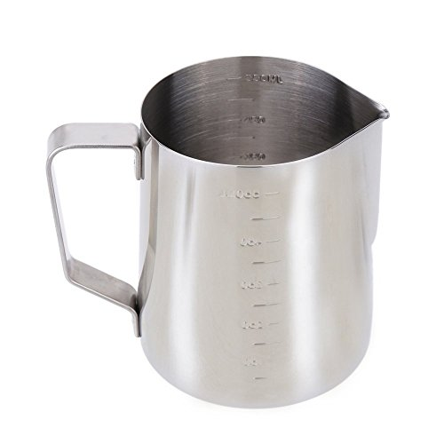 Anself Stainless Steel Milk Frother Pitcher Milk Foam Container Measuring Cups Coffe Appliance