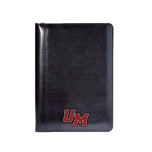 UMass Amherst Wall Street Black Junior Writing Pad 'UM'