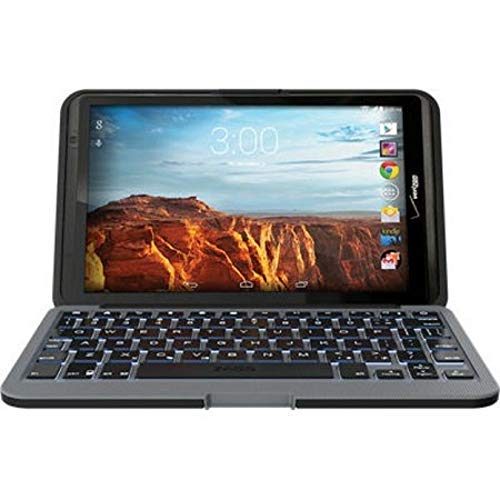ZAGG EL8ZKF-BB0 Folio Case with Backlit Keyboard for 2016 Verizon Ellipsis 8 Tablet, Black (8 Inch Keyboard Tablet Case)