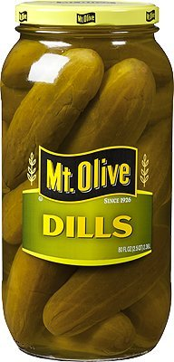 Whole Dill Pickles - Mt. Olive Pickles 80oz Glass Jar (Pack of 1) Select Flavor Below (Dills - Whole)