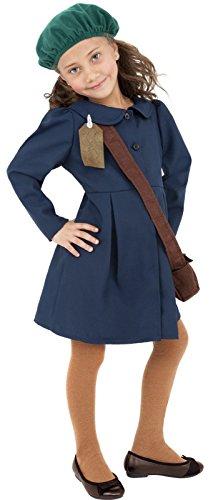 [1940's Wartime Fancy Dress Childrens Fancy Dress World War II Evacuee Age 10-12] (World War 2 Evacuees Costumes)