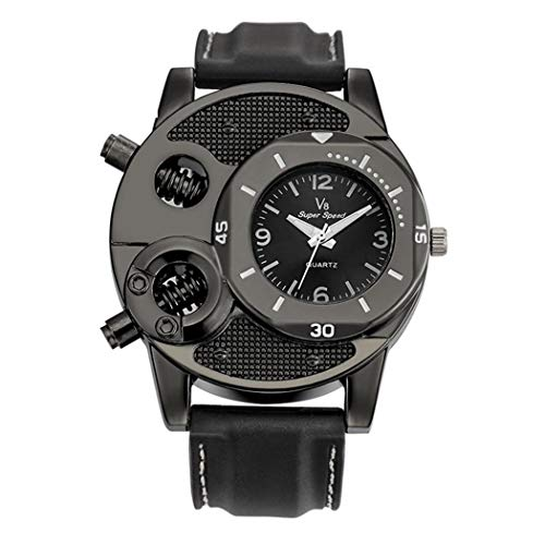Ovanpa 2019 Mens Military Quartz Wrist Watch Big Face Analog Display Sport Watch