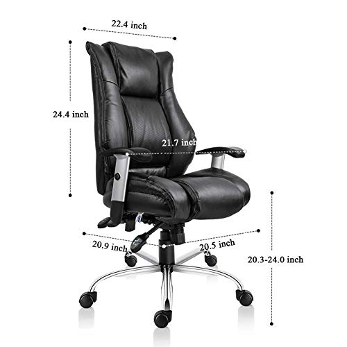 Smugdesk Executive Office Chair Ergonomic Heavy Duty Chair Leather Adjustable Swivel Comfortable Rolling Chair Photo #5