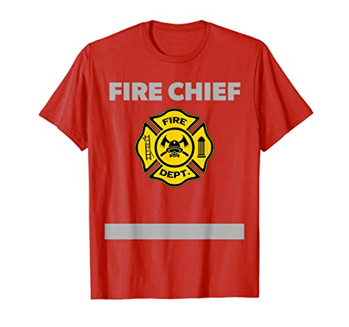 Firefighter T Shirt Fire Chief Costume Gift -