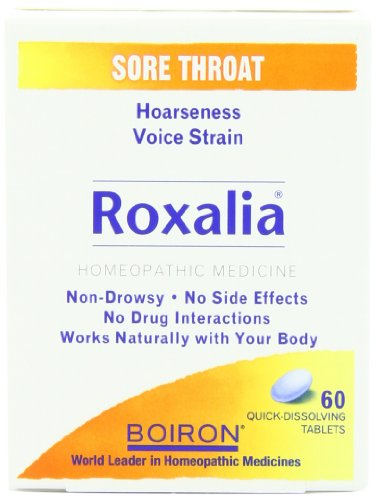 Boiron Roxalia, 60 Tablets (Pack of 3), Homeopathic Medicine for Sore Throat (Homeopathic Medicine Sore Throat)