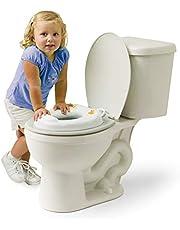 Mommy's Helper Contoured Cushie Tushie Padded Potty Seat, White, Orange
