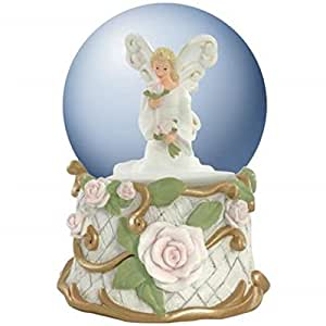 Amazon.com: 100mm Water Globe Forever Rose Musical Angel Collectible Figurine: Home & Kitchen