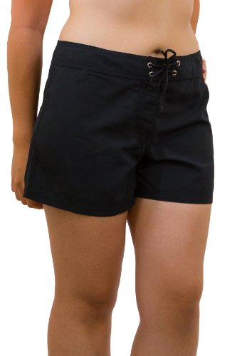 Point Conception Junior's Solid (LBA) Hip Riding Boardshort 3 Black