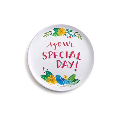 DEMDACO Special Day Melamine Giving Plate, - Today Plate Day Special Your Is