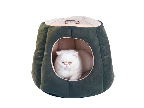 - Armarkat Cat Bed, Laurel Green and Beige