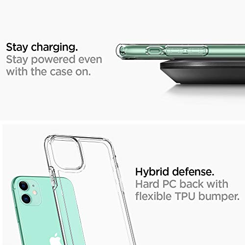 Spigen Ultra Hybrid [Anti-Yellowing] Designed for iPhone 11 Case (2019) – Crystal Clear