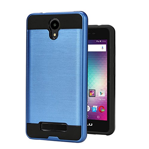 BLU Studio G2 / Studio G HD LTE case, {NFW} Tough Hybrid Armor Shock Resistance Proof Case Cover for BLU Studio G2 (S010Q) / Studio G HD LTE (S0250UU)(VGC Blue)