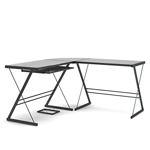 Gibson Living Madison L-Shaped Computer Desk in Black