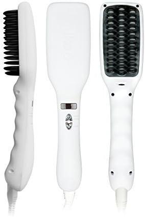 Ikoo Brush Women's E Styler White Ceramic Brush Straightener