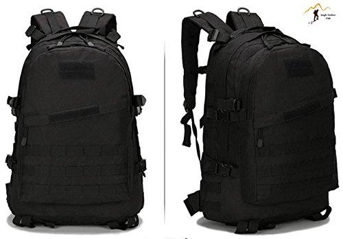 Jungle 36–�?5L laptop zaino da 3D attacco zaino militare escursioni campeggio arrampicata Recreation ciclismo tattico zaino, nero