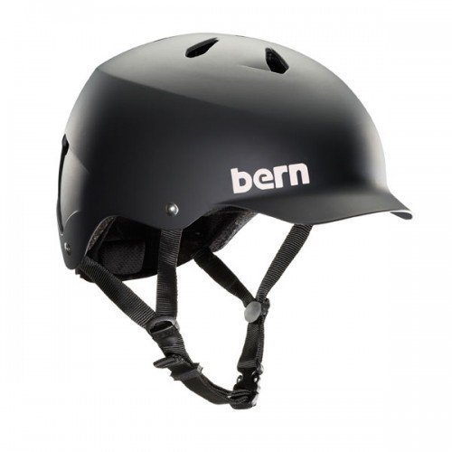 Bern Baker Matte - Bern Watts Men's Summer EPS Matte Helmet, Black, X-Large
