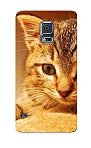 Case Provided For Galaxy S5 Protector Case Cute Kitten Phone Cover With Appearance