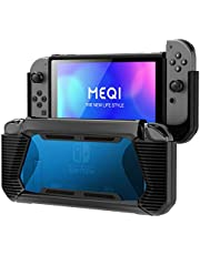 Protective Case for Nintendo Switch, Meqi Hard Shell Cover Premium Slim Clear Hybrid Grip Case for Nintendo Switch with Shockproof & Anti Scratch