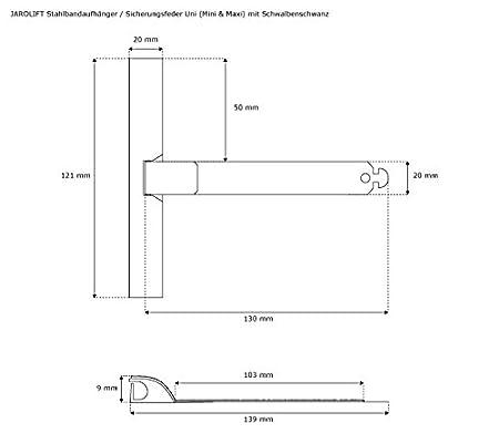seguridad y protecci/ón contra rayaduras JAROLIFT Fleje de acero universal Set de 3 Mini /& Maxi