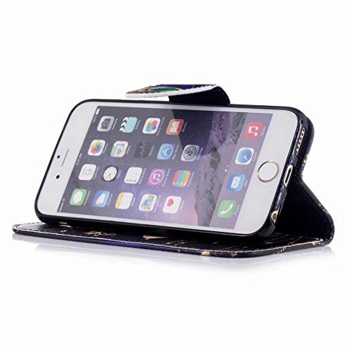 4807c5d3628 ... Yiizy handyhülle Apple IPhone 6 Plus / IPhone 6s Plus hülle, Diamant  Schmetterl Tasche Leder ...