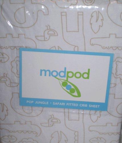 modpod Pop Jungle - Safari Fitted Crib Sheet