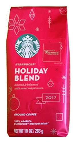 Starbucks Holiday Blend Medium Roast Ground 10ounce/283gram