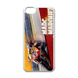 Tjupj Unique Design Cases iPhone 5C Cell Phone Case Marc Marquez Printed Cover Protector