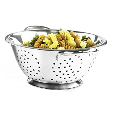 Stainless Steel Colander Tubular and Strainer - 5 Quarts