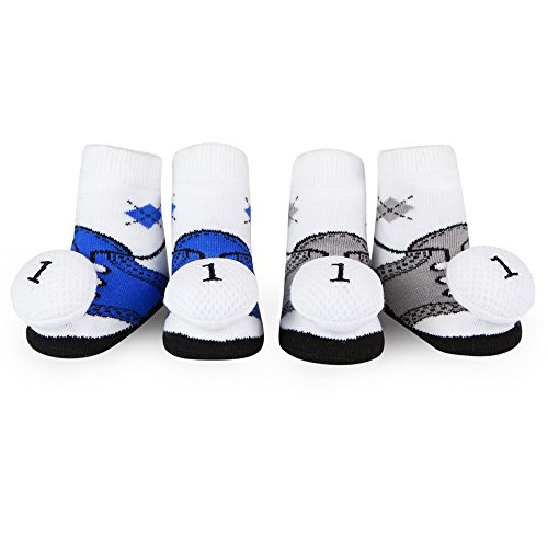 Baby Golf Clothes (Waddle Baby Socks Shoe Socks For Boys Gof Ball Rattle 0-12 Months Newborn Gift)