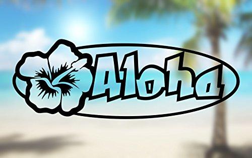 Aloha HIbiscus Shape Hawaii - Vinyl Decal Outdoor Weatherproof - SELECT SIZE -