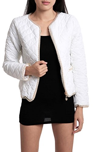 Zeagoo Womens Thick Cotton-padded Fitted Zipper Coat Slim Tops Jacket Casual Outerwear