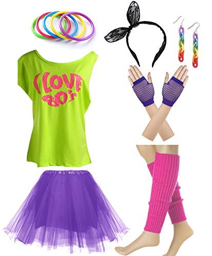 I love 80s 1980s Costume Accessories Outfit Set