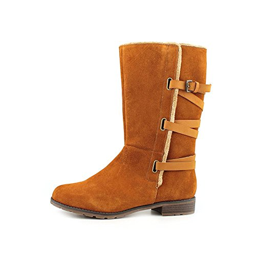 Iso Mischa Womens Chestnut Leather Mid-calf Boots US6.5 AreyC