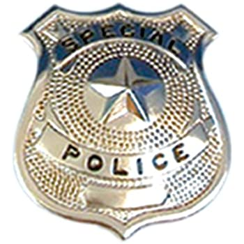 Silver Police Badge for Fancy Dress