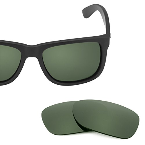 Revant Polarized Replacement Lenses for Ray Ban Justin 54mm RB4165 Grey Green by Revant