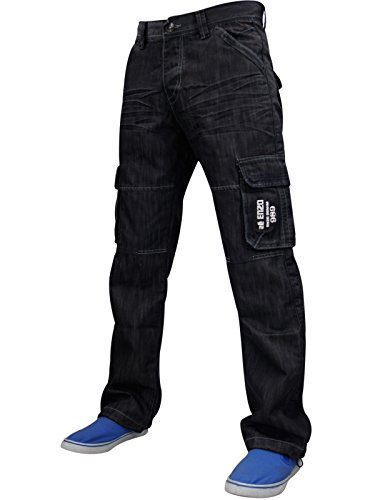 Enzo - Jeans -  Homme -  - EZ 08 - Black - Medium