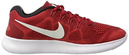 NIKE Men's Free RN 2017 Running Shoes (10.5, Red-M)