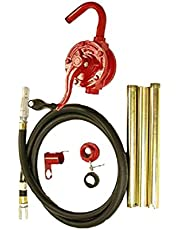 National-Spencer 961 Rotary Pump with Rubber Hose and Holster for 15 gal-55 gal Drum