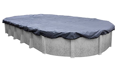 Pool Mate 341833-4-PM Commercial-Grade Winter Oval Above-Ground Pool Cover, 18 x 33-ft, Slate Blue