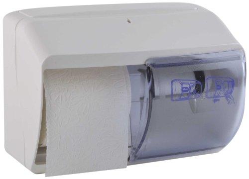 Funny Spender für Toilettenpapier, abschließbar, 2 Handelsübliche Rollen , weiß, 1er Pack (1 x 1 Stück)