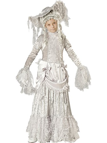 InCharacter Costumes Girls Ghostly Lady Costume, White, Size 8 (Ghostly Costume)