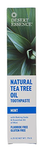 Natural Tea Tree Oil Mint Toothpaste(3pk)- 6.25 oz (Essence Desert Dental Care Toothpaste)