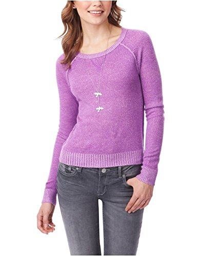 Aeropostale Womens Ls Raglan Crew Knit Sweater