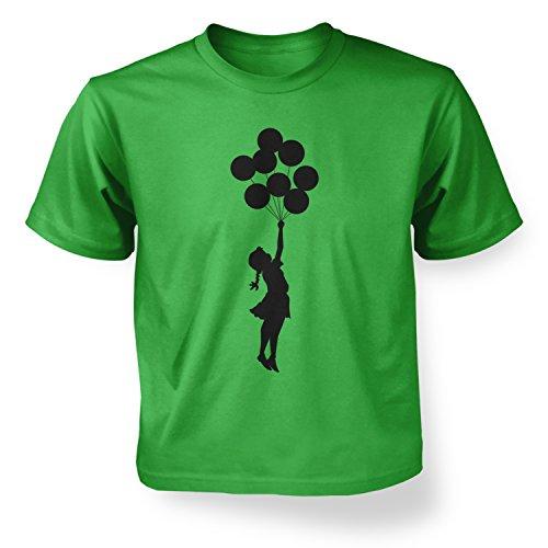 Banksy Tshirts PP - Palästinisches Ballonmädchen Banksy Kinder T-Shirt 3 Jahr Irisches Grün